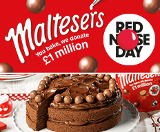 Bake with Maltesers for Red Nose Day at B&M.