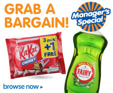Manager's Specials. Grab a Bargain