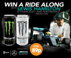 Win a Lewis Hamilton Ride Along at B&M.
