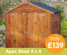 Save on Sheds at B&M.