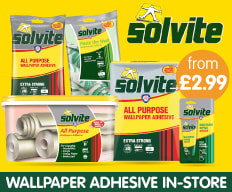 Save on Solvite Wallpaper Adhesive at B&M.