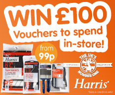 Win £100 with Harris at B&M.