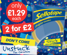 2 for £2 on Sellotape at B&M.
