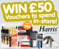 Win £50 Vouchers from Harris at B&M.