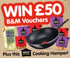 Win £50 Vouchers and Cooking Hamper with WAT KITCHEN.