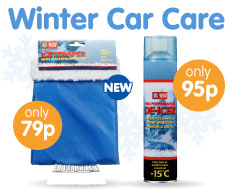 Save on De-Icer and winter essentials at B&M.