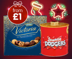 Save on Christmas Biscuit Selections at B&M.