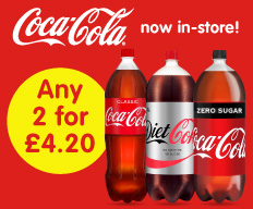 Save on 3 litre Coca Cola at B&M.