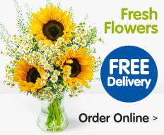 Buy flowers online at B&M.