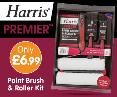 Save on Harris paint brushes at B&M.