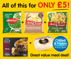 Frozen Meal Deal at B&M.