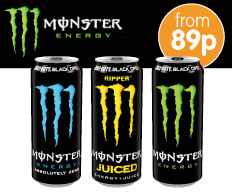 Save on Monster Energy Drinks at B&M.