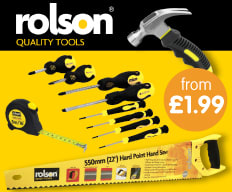 Save on Rolson Tools at B&M.