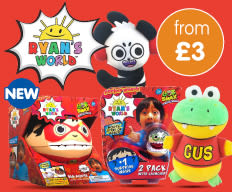 Save on Ryan's World Toys at B&M.