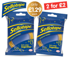 Save on Sellotape at B&M.