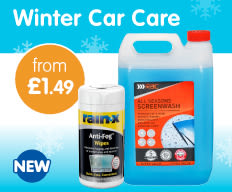 Save on car care at B&M.
