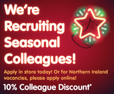 Seasonal Colleagues wanted at B&M.