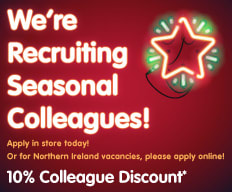 Christmas jobs now available at B&M.