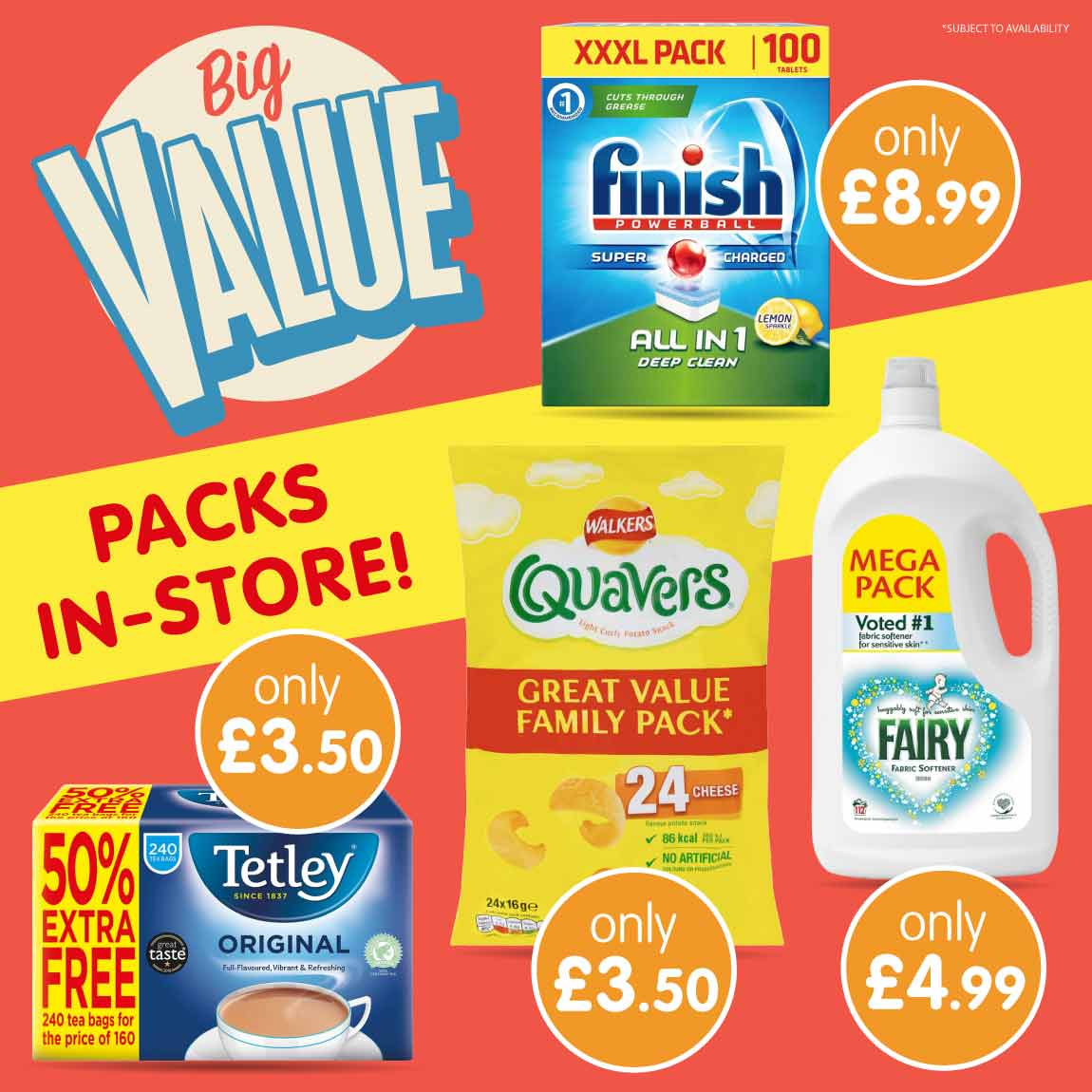 Save on Big Value packs at B&M.