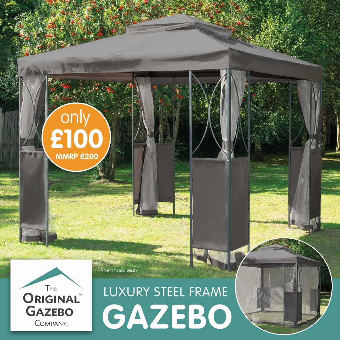 Save on Gazebo's at B&M.