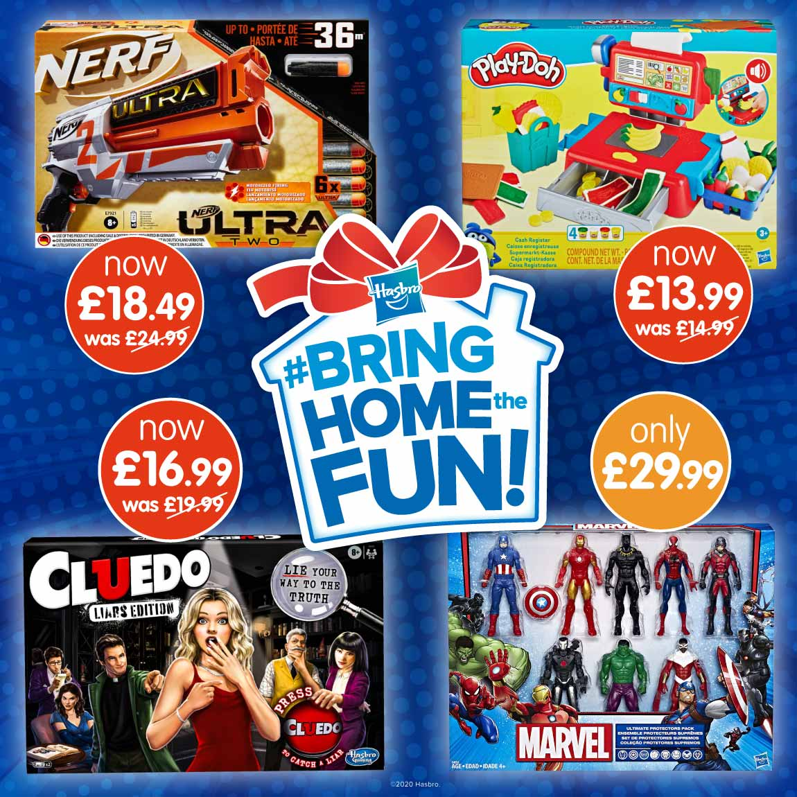 Save on Hasbro Toys at B&M.
