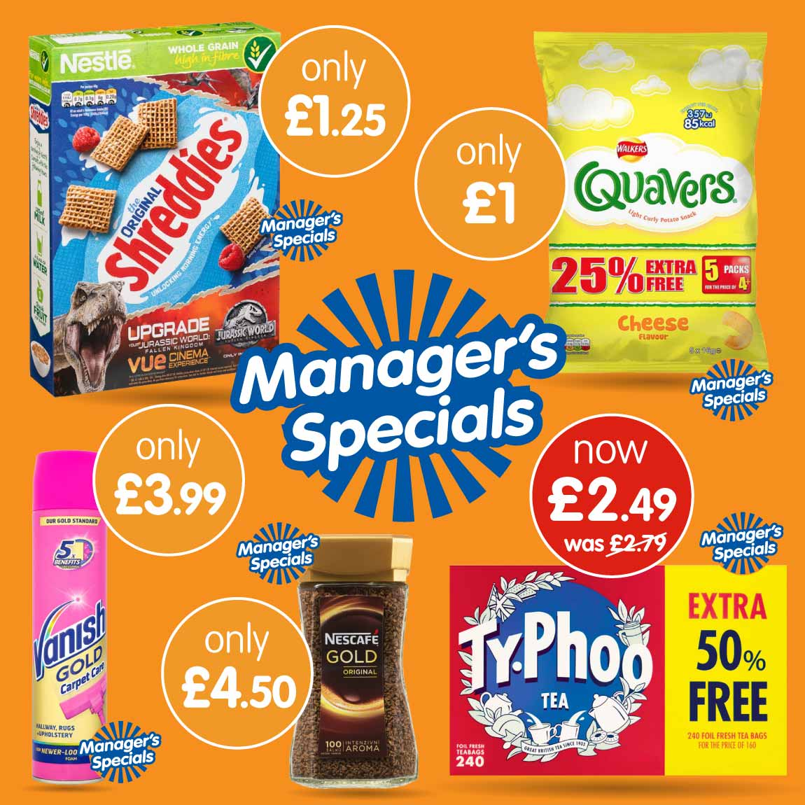New Manager's Specials now in store at B&M.