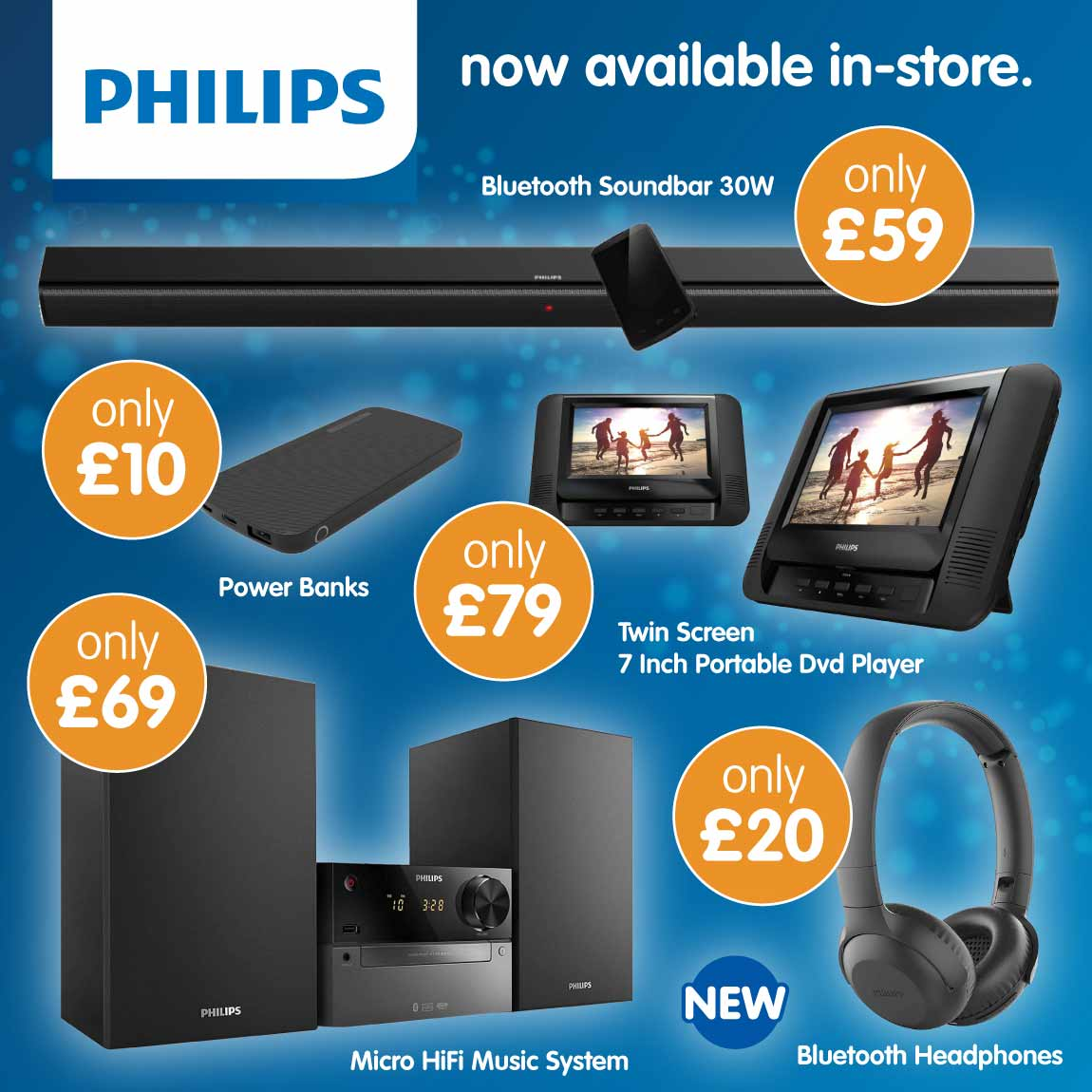 Philips electricals now in store at B&M.