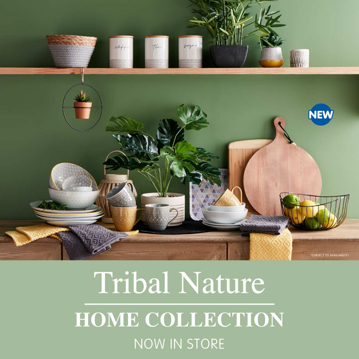 New Tribal Nature Home Collection at B&M.