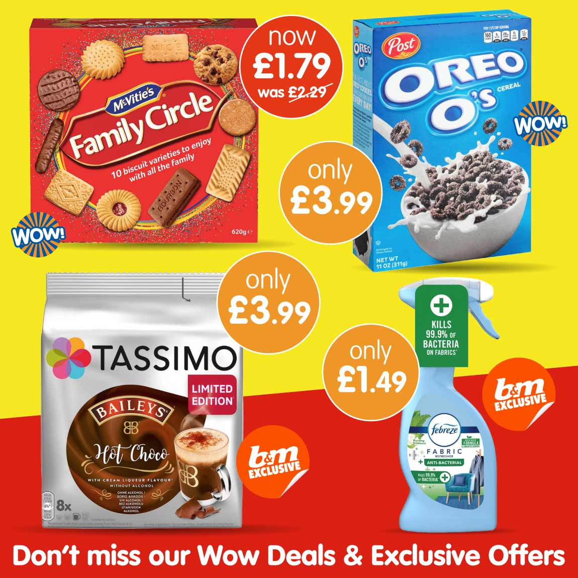 Latest Wow Deals and Exclusive's at B&M.