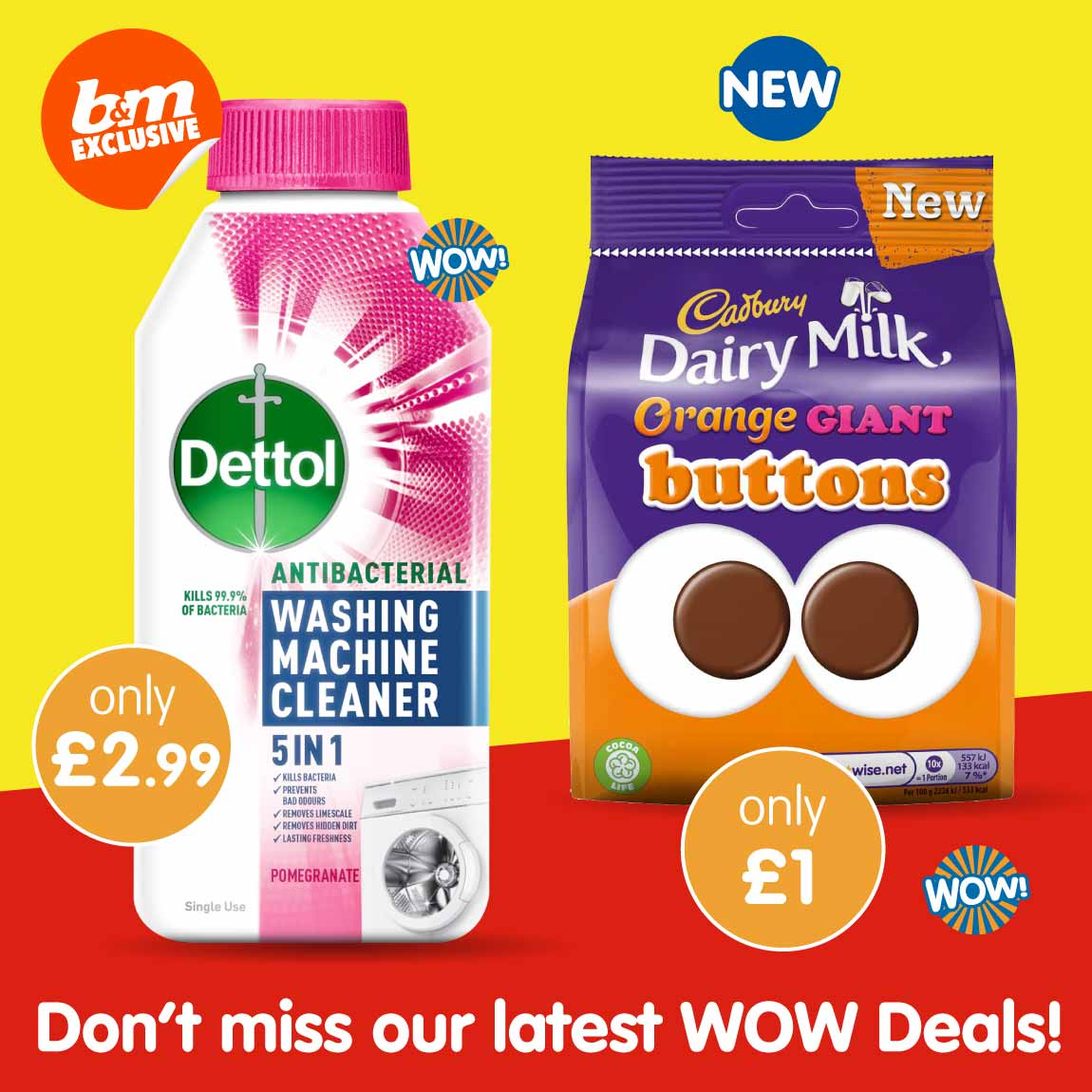 Latest Wow Deals at B&M.