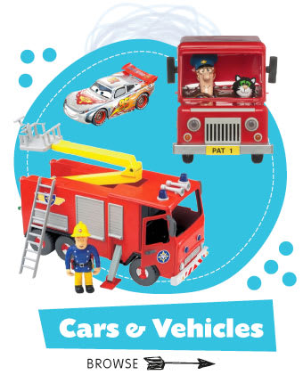 Save on vehicle toys at B&M.