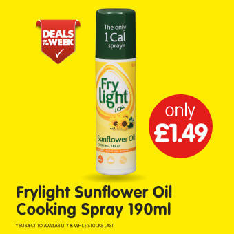 Frylight Sunflower Oil Cooking Spray 190ml B&M Deals of The Week.