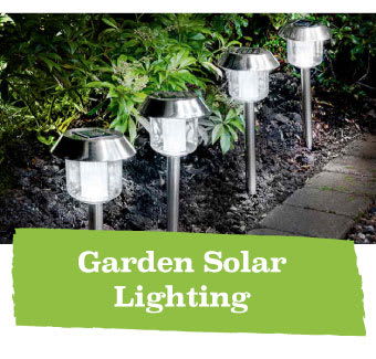 Save on Garden Solar Lighting at B&M.