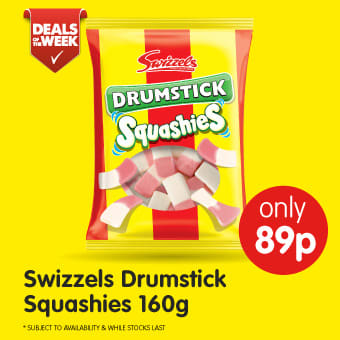 Swizzels Drumstick Squashies 160g B&M Deals of The Week.