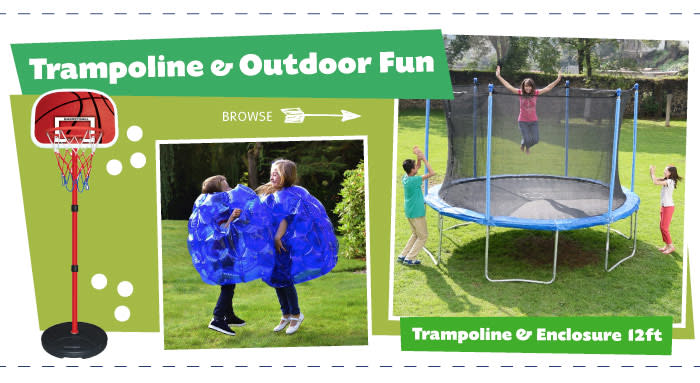 Save on Trampolines and Outdoor Toys at B&M.