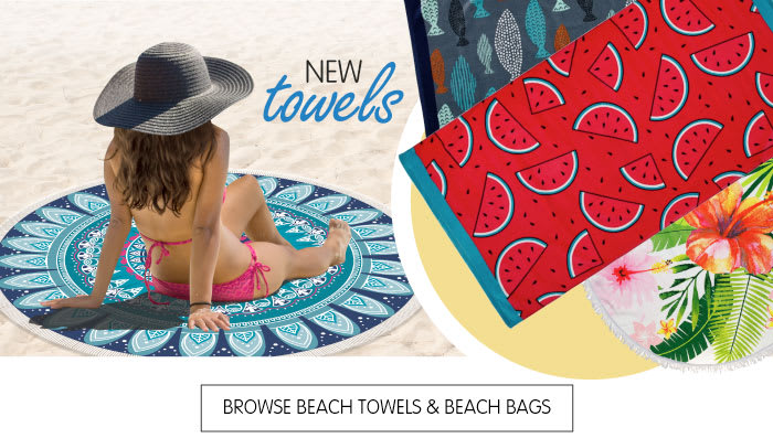 Save on beach towels at B&M.