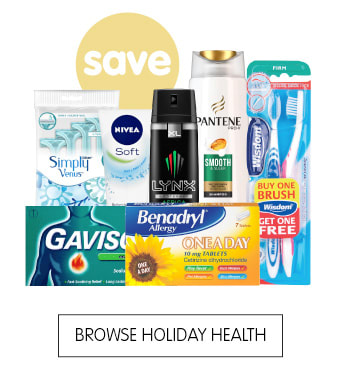 Save on holiday health products at B&M.