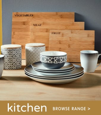Browse our Kitchen Range at B&M.