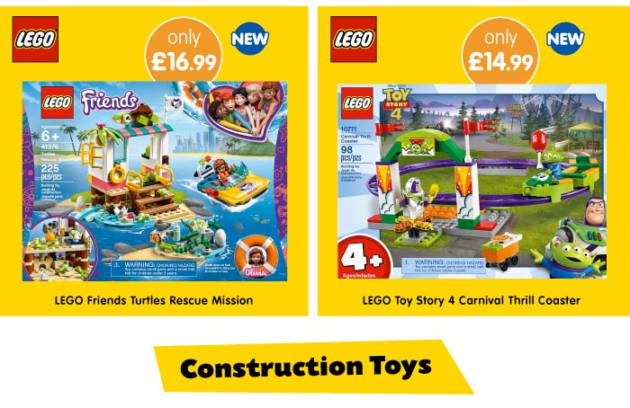 Save on Construction Toys at B&M.