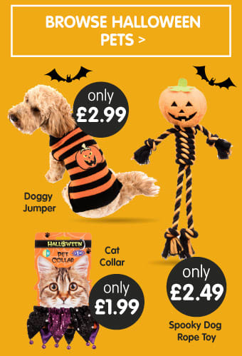Save on Halloween Pets at B&M.