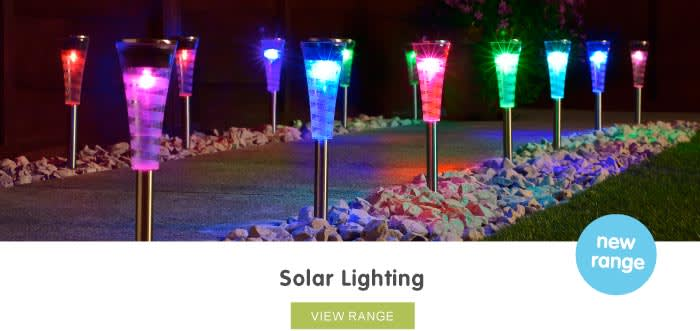 Save on Solar Lighting at B&M.