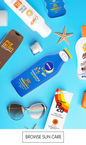 Save on sun care at B&M.