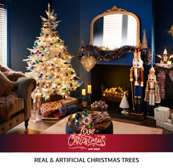 Save on Real & Artificial Christmas Trees at B&M.