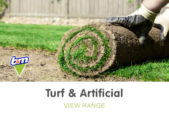 Save on artificial turf at B&M.