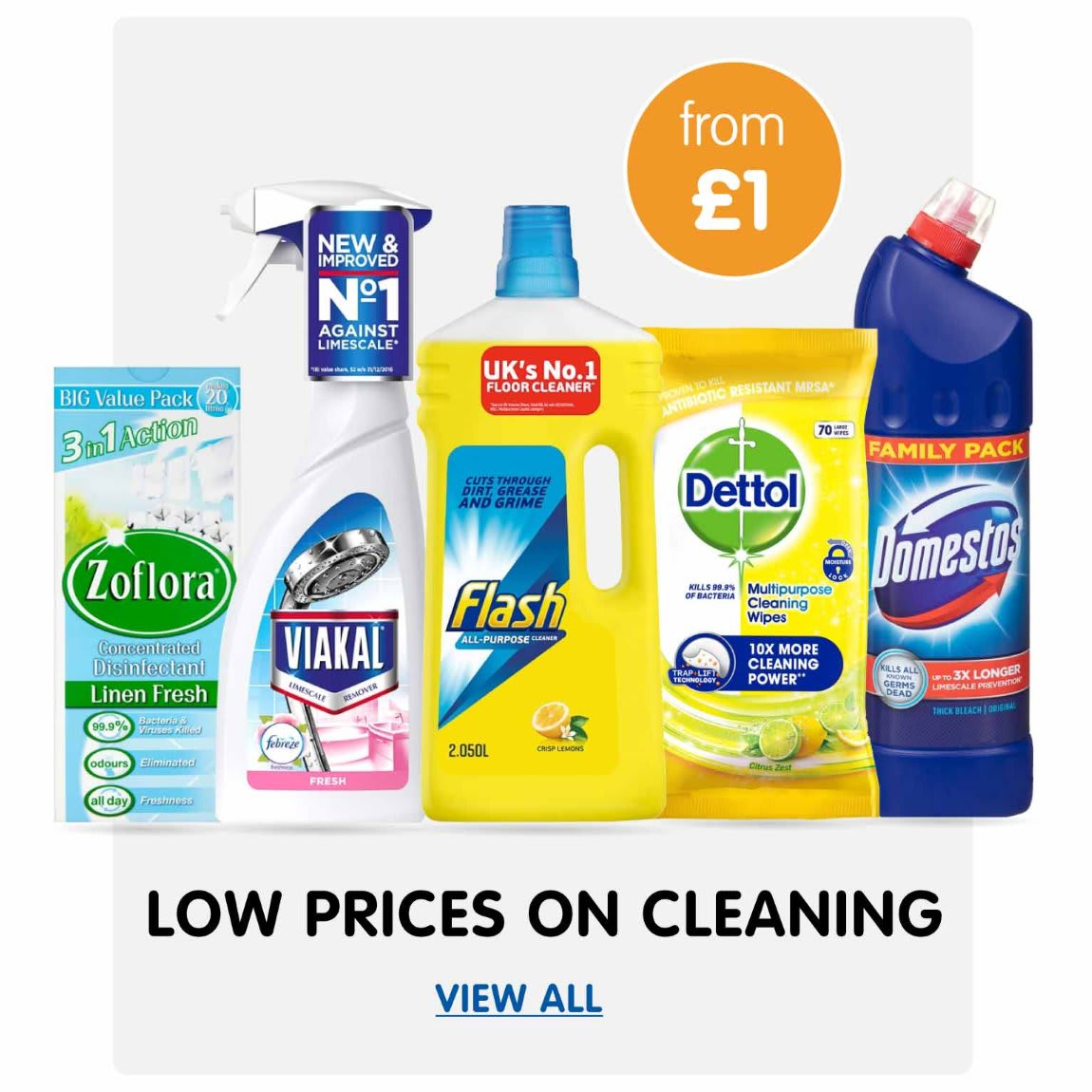 Save on Cleaning at B&M.