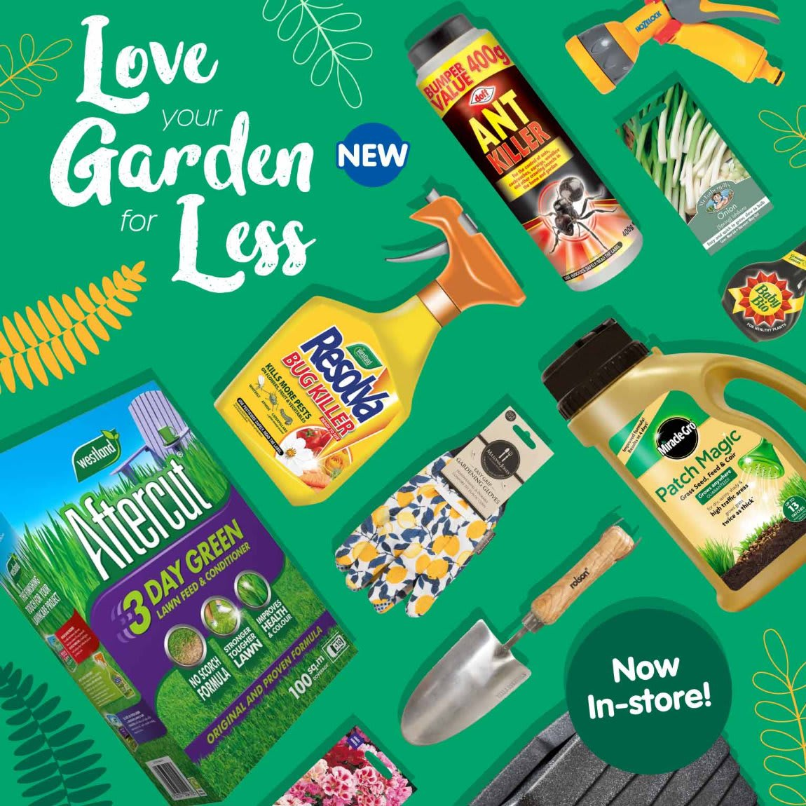 Garden now in store at B&M.