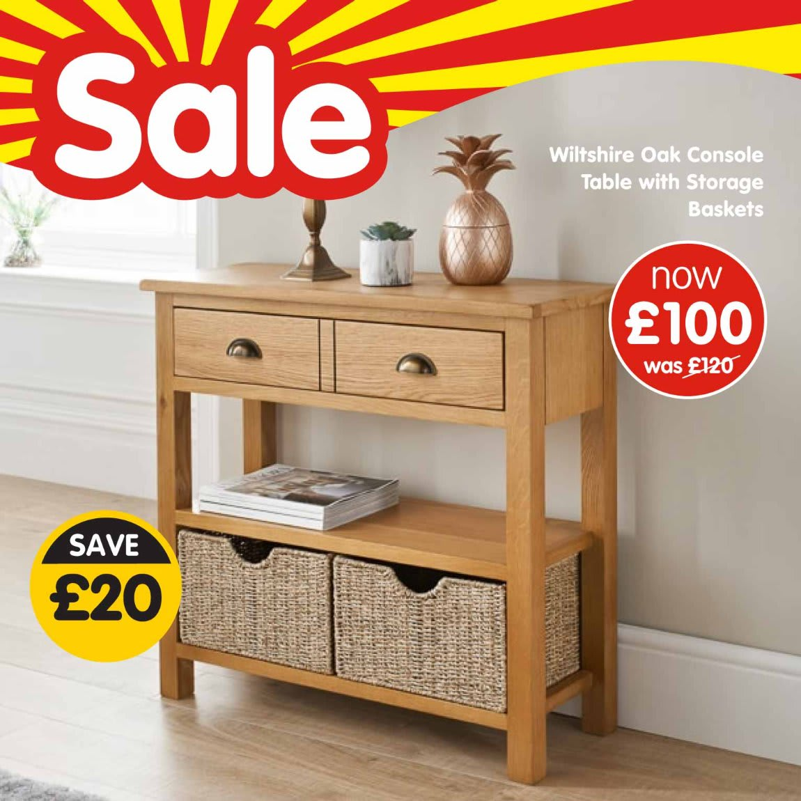 Save in January Furniture Sale at B&M.