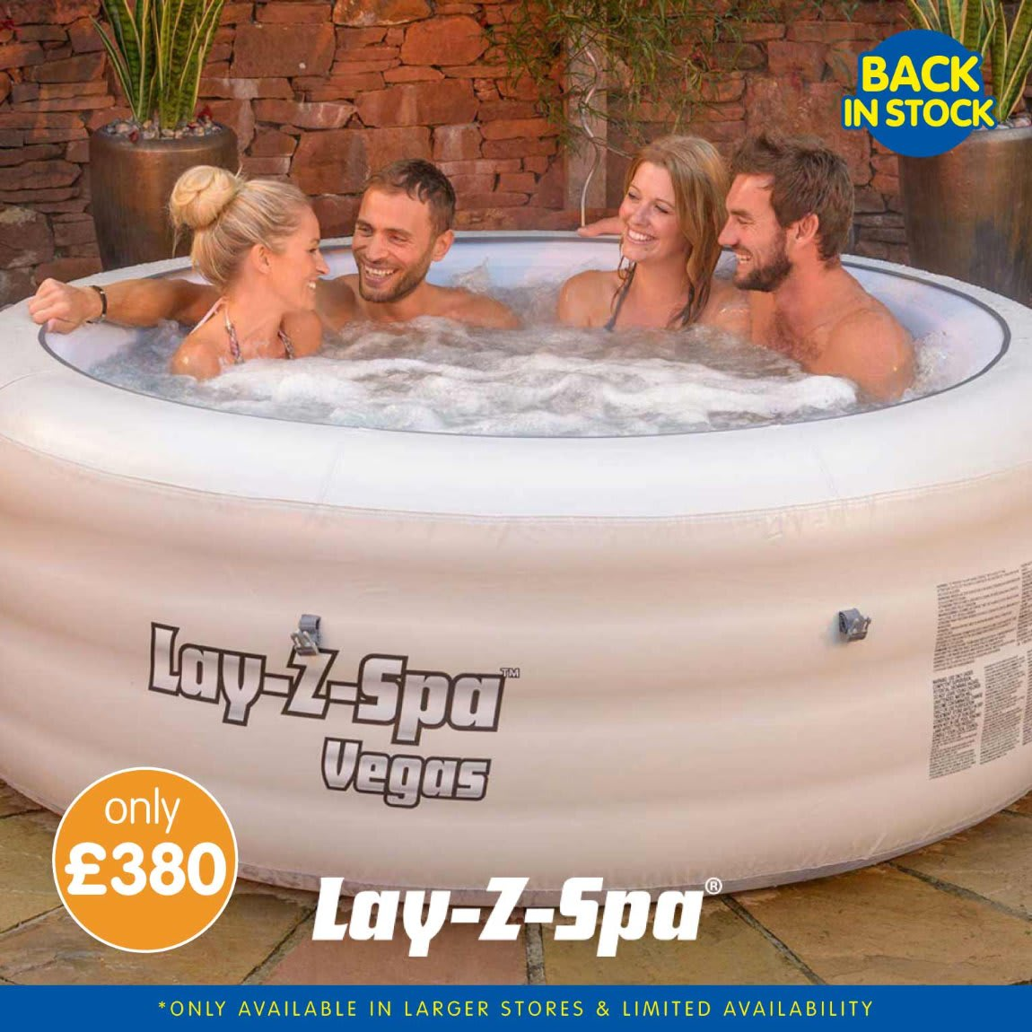 Lazy Spa back in stock at B&M.