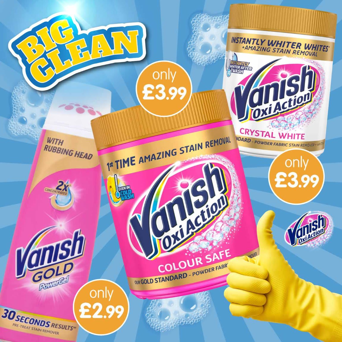 Save on Vanish in the Big Clean at B&M.