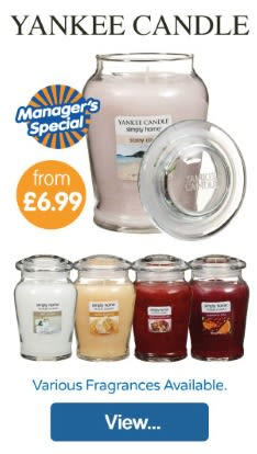 Save on Yankee Candles at B&M.